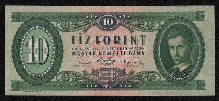 1947 10 forint aUNC