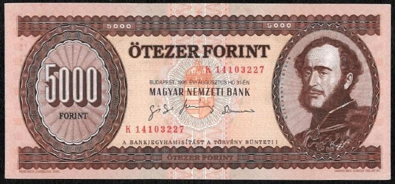 1995 5000 forint K EF+