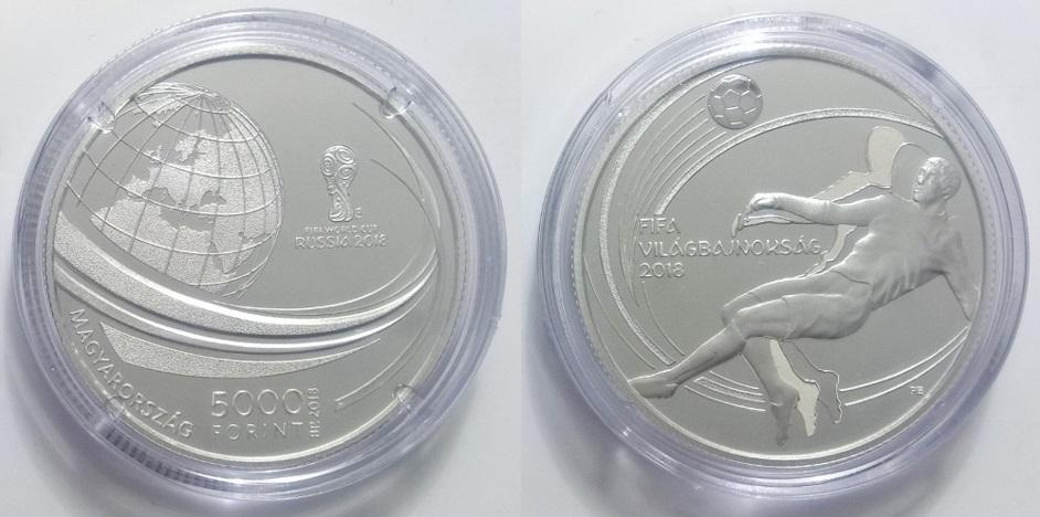 Labdarugó vb 5000 forint ezüst emlékérme