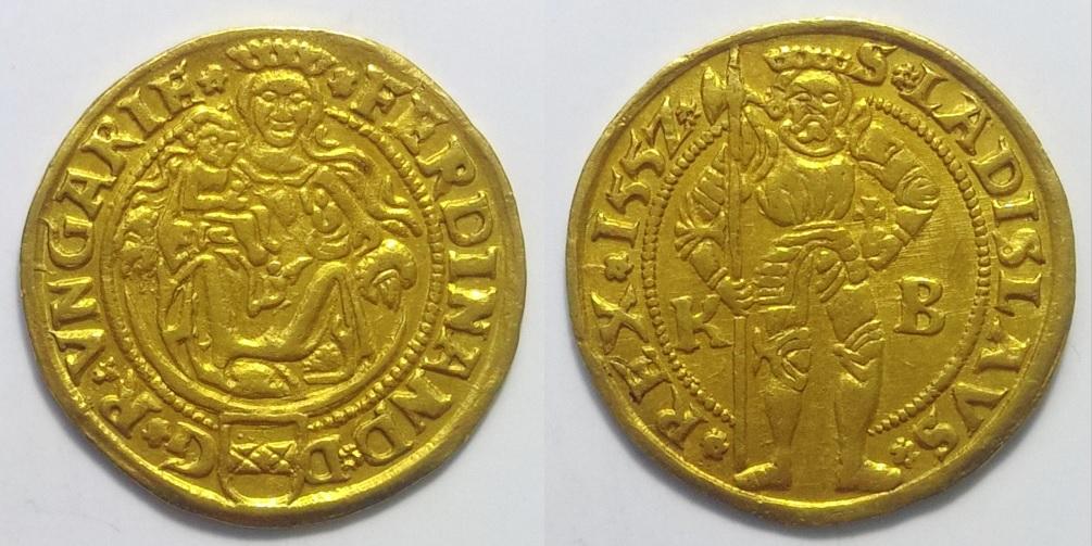 I Ferdinánd aranypénz dukát