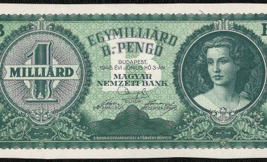 1 milliárd b pengő bankjegy