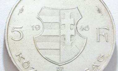 1946 ezüstpénz Kossuth 5 forint
