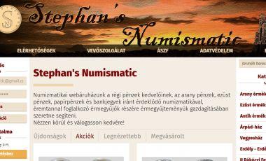 Stephan's Numizmatika webáruház