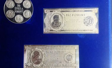 50 éves a forint ezüst emlékveretek